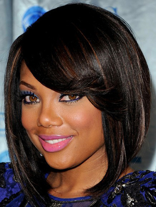A shoulder length bob hairstyles