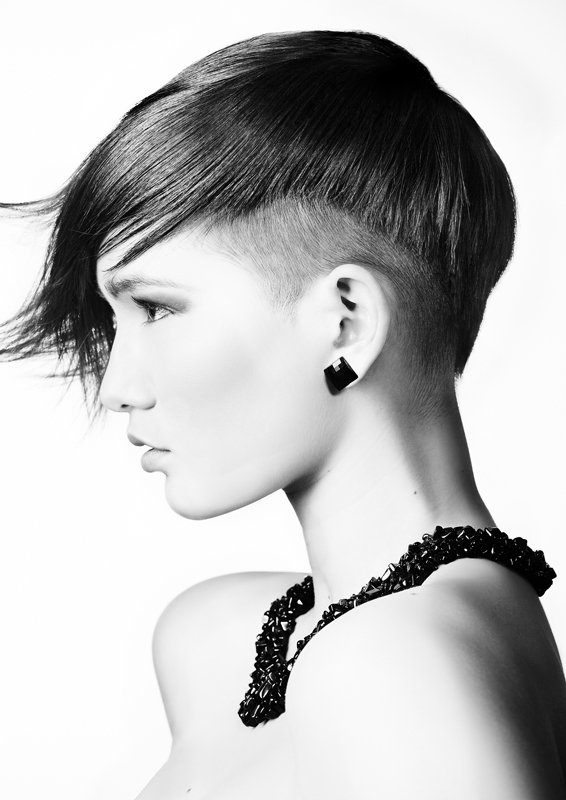 Asymmetric shaved short hairstyles