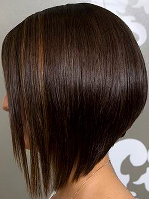 Inverted Bob Haircut Cut longer in front